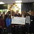 Annie Cast present Cheque to EFA